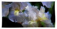 Billowing Irises Beach Towel