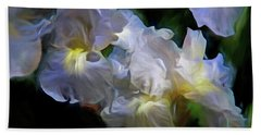 Billowing Irises Beach Sheet