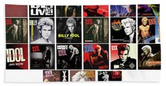 Billy Idol Beach Towel
