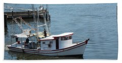 Beach Towel featuring the photograph Bilouxi Shrimp Boat by Cynthia Powell