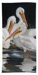 Beach Towel featuring the painting Biloxi Bayou Lullaby by Phyllis Beiser