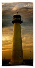 Biloxi Lighthouse - Sunrise Beach Towel