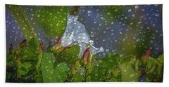 Bindweed Droplets 1 #g1 Beach Sheet by Leif Sohlman