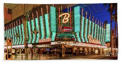 Binions Casino Entrance Beach Towel