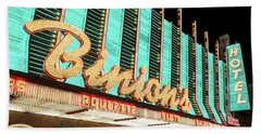 Beach Towel featuring the photograph Binions Hotel And Casino by Aloha Art