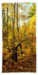 Birch Autumn Beach Sheet by Henryk Gorecki