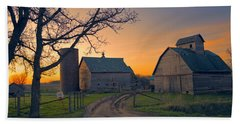 Birch Barn 2 Beach Towel by Bonfire Photography
