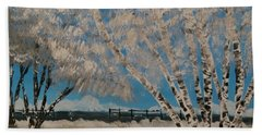 Birch Snow Beach Towel
