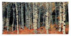 Birch Tree Forest 1 Beach Towel