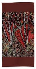 Birch Tree Mosaic Beach Towel