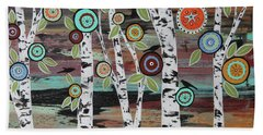 Birch Woods Beach Towel