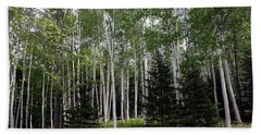 Birches Beach Towel by Heather Applegate