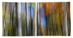 Birches In Autumn Forest Beach Towel