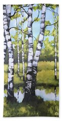 Birches In Spring Mood Beach Sheet