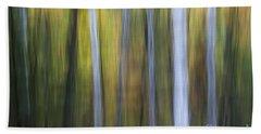 Birches In Twilight Beach Towel