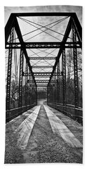 Bird Bridge Black And White Beach Towel