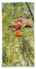 Bird Food Beach Towel by Isabella F Abbie Shores FRSA