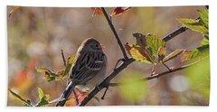 Bird In  Tree Beach Towel