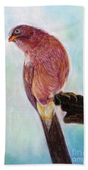 Beach Towel featuring the painting Bird by Jasna Dragun