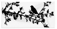 Bird On A Branch Beach Sheet