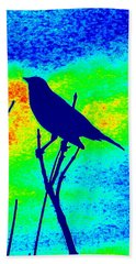 Bird On A Branch Beach Towel