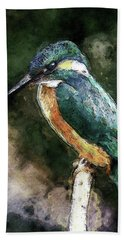 Bird On A Branch Beach Towel by Phil Perkins
