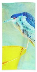 Bird On A Chair Beach Sheet