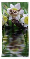 Bird On A Limb Beach Towel by Nina Bradica