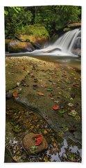Bird Rock Falls Beach Towel