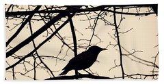 Bird Silhouette Beach Towel by Sarah Loft