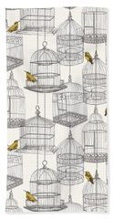 Birdcages Beach Towel by Stephanie Davies