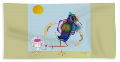 Birdie Beach Towel by Iris Gelbart