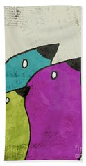 Birdies - V06c Beach Towel by Variance Collections