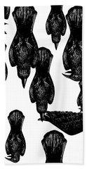Birds Beach Towel by Akiko Okabe