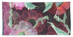 Birds And Blooms Beach Towel
