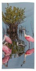 Birds And Mangrove Bush Beach Sheet