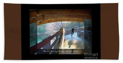 Birds Boaters And Bridges Of Barton Springs - Bridges One Greeting Card Poster V2 Beach Sheet