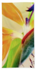 Birds Bromeliads Halyconia 2 Beach Towel