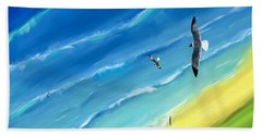 Bird's-eye Above Sea Beach Towel