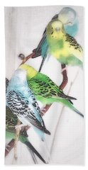 Beach Towel featuring the photograph Birds Of A Feather by Robin Regan