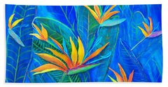Birds Of Paradise In Florida Beach Towel