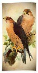 Beach Sheet featuring the mixed media Birds Of Prey 1 by Charmaine Zoe