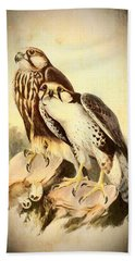 Birds Of Prey 3 Beach Towel by Charmaine Zoe