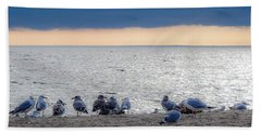 Beach Towel featuring the photograph Birds On A Beach by Kendall McKernon