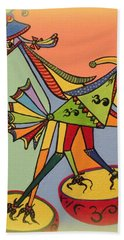 Birds On A Space Mission Beach Towel