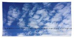 Birds On Wire Beach Towel