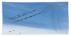 Birds On Wires Beach Towel