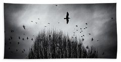 Birds Over Bush Beach Towel