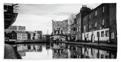 Beach Towel featuring the photograph Birmingham Canal by Nick Bywater