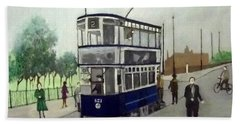 Birmingham Tram With Figures Beach Sheet